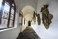 Cathedral St. Liborius in Paderborn, cloister. North Rhine-Westphalia, Germany.