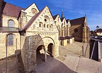 Catholic Paderborn Cathedral St. Liborius is mainly of the 13th century. The western tower of the 12th century. Germany, Europe.