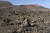 Volcanic landscape. Timanfaya National Park. Lanzarote. Canary Islands. Spain.