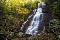 Dill Falls on Tanasee Creek - Nantahala National Forest, Canada, North Carolina, USA.