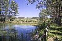 Landscape Gudar mountains in summer Teruel Aragon Spain.