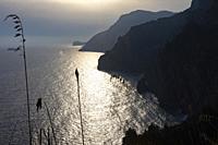 Sunset, Positano, Amalfi coast, Italy.