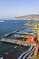 Beach resorts, Sorrento, Italy.
