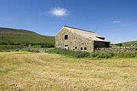 A barn in the Yorkshire Dales National Park, North Yorkshire near Chapel-le-Dale, England.