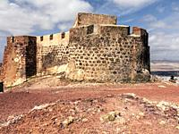 Sta. Barbara castle in Teguise. Lanzarote. Canary Islands. Spain. Europe.