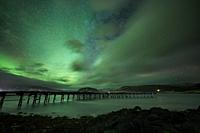 Aurora Borealis, old military base, Hvalfjordur, Iceland.