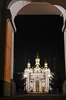 St Petersburg, Russia The Church of saints Cyril and Methodius in the bell tower, or Khram Svyatykh Kirilla I Mefodiya, Prikhod Krestovozdvizhenskogo ...