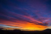 Daybreak. Tierra Estella county. Navarre, Spain, Europe.