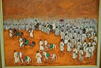 """""""""""""""""""""""La sortie du sultan"""""""" Painting by Hassan el Glaoui ( Modern and contemporary art museum in Rabat, Morocco)."""