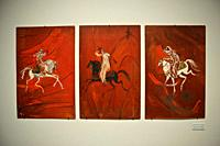 """Painting by Hassan El glaoui ( Modern and contemporary art museum in Rabat, Morocco). Painting name is """""""" Fantasia horsemen""""""""."""