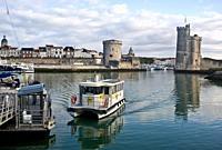 Sea bus at La Rochelle ( France).