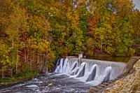 Lake Solitude Dam and Waterfall -.