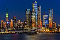 The NYC skyline, as well as the Chelsea and Hudson Yards neighborhoods of Manhattan in, New York City.