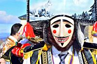 Felos. Winter masks of Maceda, carnival, Orense, Galicia, Spain.