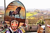 Felos. Winter masks of Maceda, carnival, Xinzo da Costa, Orense, Galicia, Spain.