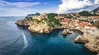 Lovrijenac Fortress above the blue Adriatic, old town Dubrovnik, Dalmatian Coast, Croatia.