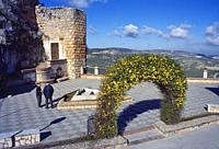 Square and viewpoint. Zuheros, Cordoba province, Andalucia, Spain.