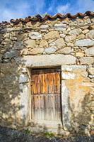 Old house door. Benitos, Avila province, Castilla Leon, Spain.