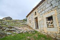 Abandoned house. Benitos, Avila province, Castilla Leon, Spain.