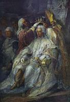 Gustav III of Sweden, The Coronation of Sweden King, Fragment. Painted by Carl Gustaf Pilo.