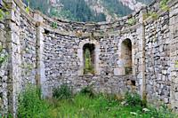 Ruins of the romanesque hermitage of San Nicolás de Bujaruelo. Pirineos. Huesca province. Aragón. Spain.