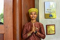 Door man, Angkor Borei hotel,Siem Reap,Cambodia,South Esat Asia.