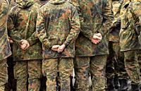 Rheinbach, Germany, 04. 11. 2019: Soldiers in the Tomburg barracks.