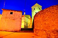 Church of Santa Catalina in Robregordo, Madrid, Spain.