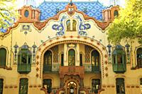 Serbia, Vojvodina, Subotica, Raichle Mansion, art gallery.