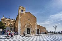 Italy, Sicily Island, Taormina City, Sant Agostino Church.