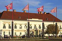 Hungary; Budapest; Sandor Palace, President's residence.