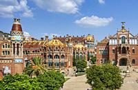 Spain, Catalonia, Barcelona City, Sant Pau Hospital, UNESCO, W. H.