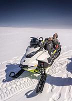 Glacial expedition on Vatnajokull, Vatnajokull National Park, Iceland. Unesco World Heritage Site.