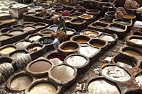 Chouwara tannery. Fes, Morocco.