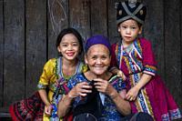 Hmong and Khmu village near Luang Prabang Laos.
