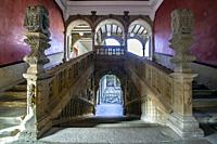 Stairs of the Palace of Jabalquinto of Renaissance art.