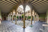 Cloister of the Palace of Jabalquinto, baeza. Jaen.