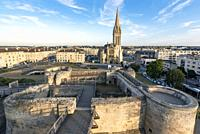 Views of the church of San Pedro and the Castle of Caen.