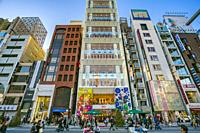 Ginza dictrict, Chuo, Tokyo, Japan, Asia.