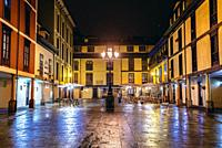 Plaza del Fontan on the Old Town of Oviedo in Asturias region, Spain.
