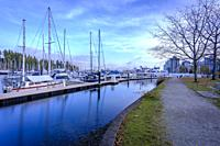 Coal Harbour in Vancouver, British Columbia during a wonderful sunny afternoon in November.