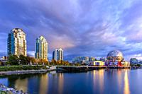 False Creek and Science World during a wondeful sunset.