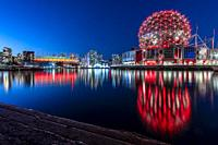 Science World in Vancouver, British Columbia - Canada in front of the BC Stadium.