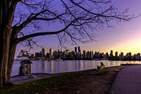 Beautiful Vancouver during the blue hour.