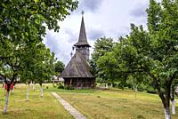 17th century wooden church from Lechinta village in Oas Village Museum located in Negresti-Oas town in the county of Satu Mare in Romania.
