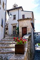 alleys of the city of Barrea, in the Abruzzo national park, Italy, Europe.