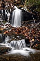 Upper Dill Falls on Tanasee Creek - Nantahala National Forest, Canada, North Carolina, USA.