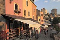 Bosnia and Herzegovina, Mostar, Kujundziluk, Old Bazar, shops.