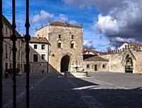 Patio del Monasterio de Santa María la Real de las Huelgas. Burgos. Castilla León. España.
