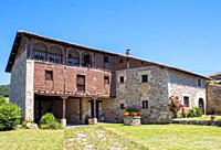Arquitectura popular. San Vicentejo. Condado de Treviño. Burgos. Castilla León. España.